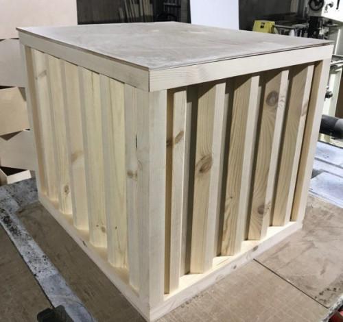 Ящик фанерный декоративный под контейнер
