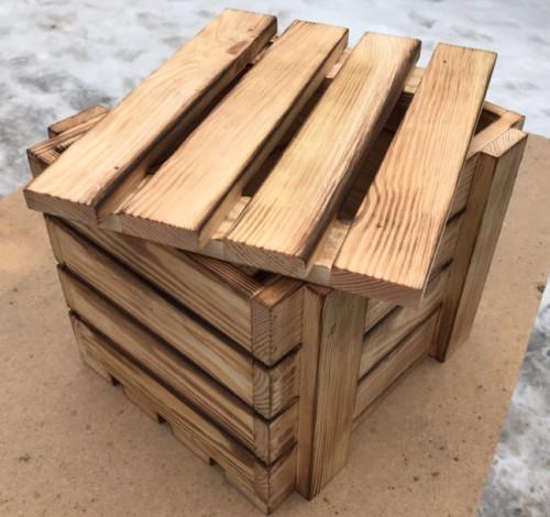 Ящик-обрешетка деревянный обоженный